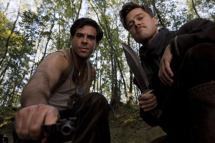 "Brad Pitt (r.) spielte 2009 in dem Tarantino-Film ""Inglorious Basterds"""