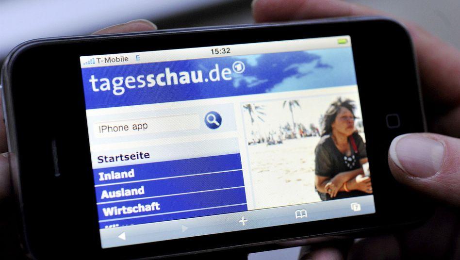 Tagesschau-App: Gebührenfinanziertes Handyfernsehen
