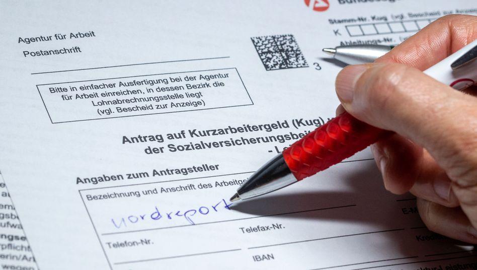 Antragsformular für Kurzarbeitergeld: Tausende Verdachtsfälle
