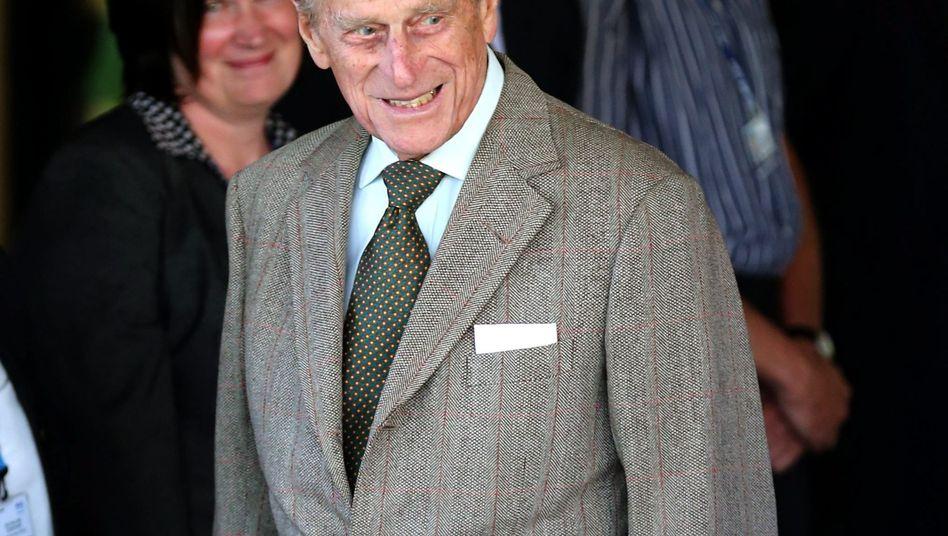 Prinz Philip beim Verlassen der Klinik: Bestens gelaunt