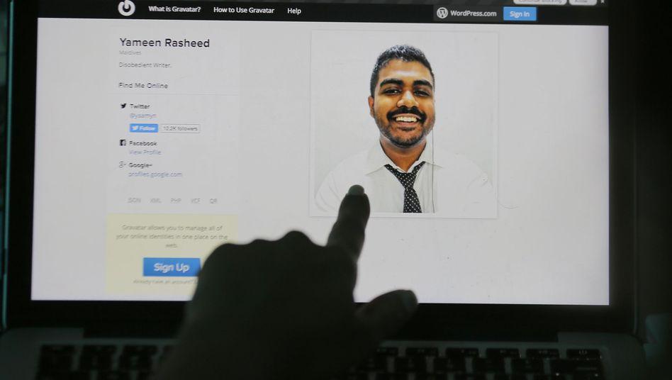 """Yameen Rasheed auf seiner Website """"The Daily Panic"""": Von Unbekannten erstochen"""