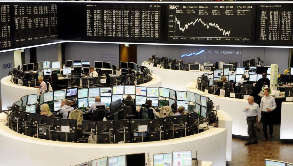 Frankfurter Börse: Ab Mittwoch sind ungedeckte Leerverkäufe verboten