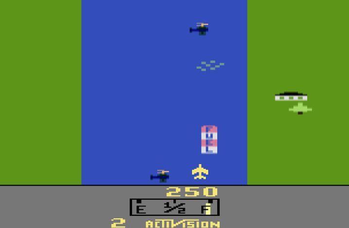 »River Raid« von 1982: Mit dem Fortschritt der Technik haben sich auch die Vorstellungen von Realismus verändert. So landete dieses Kriegsspiel einst auf dem Index – wegen seines »Hyperrealismus«