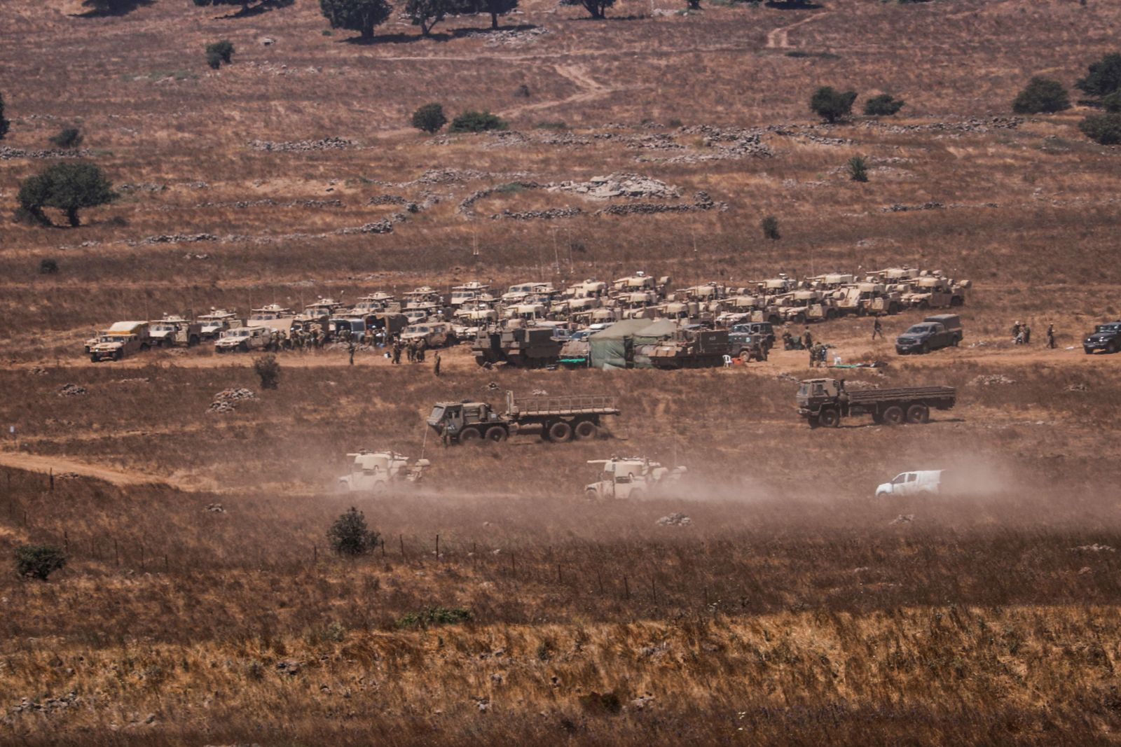 Tensions on Israel-Syrian border in the Golan Heights - 03 Aug 2020