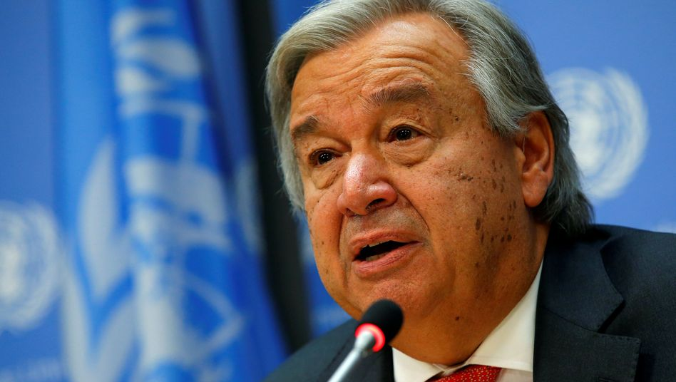 Uno- Generalsekretär Antonio Guterres