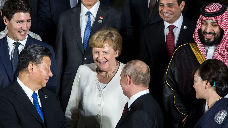 Angela Merkel auf dem G20-Gipfel in Japan