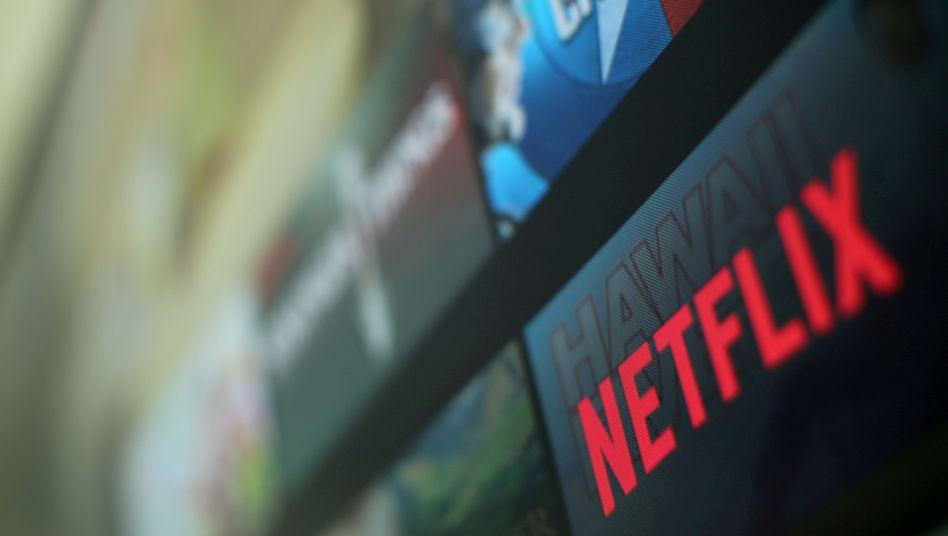 Netflix-Logo auf TV