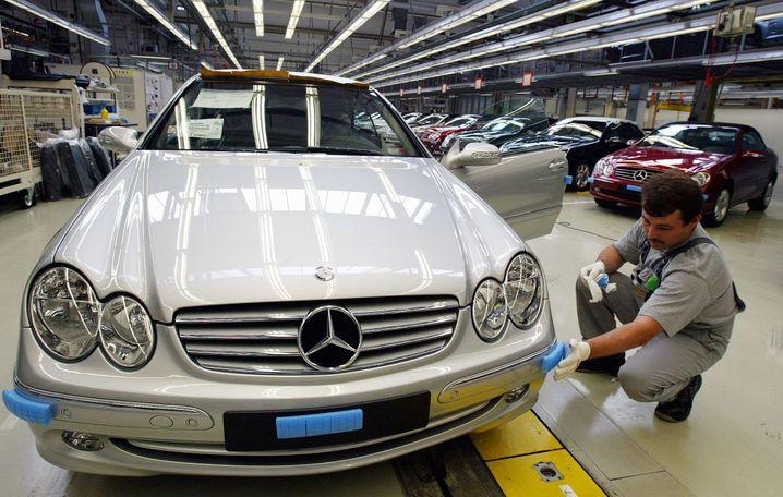 Mercedes CLK (Archivbild): Ende Juni rollte bei Karmann das letzte Auto vom Band