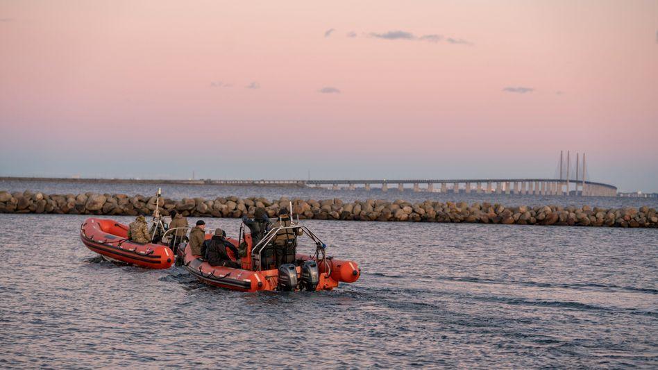 Polizeitaucher im Öresund: Arbeiten bis zur Erschöpfung, um Kim Walls Leiche zu finden