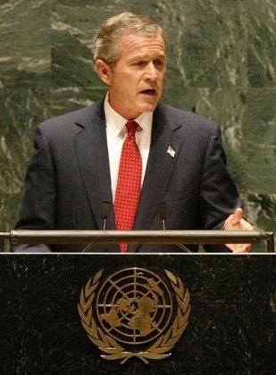 Warb um Unterstützung für den Kampf gegen den Terror: Bush vor der Vollversammlung der Vereinten Nationen zum Jahrestag der Anschläge vom 11. September