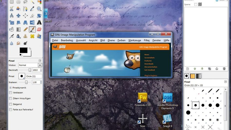 Gimp: Das Bildbearbeitungsprogramm ist kostenlos für Mac, Linux und Windows erhältlich