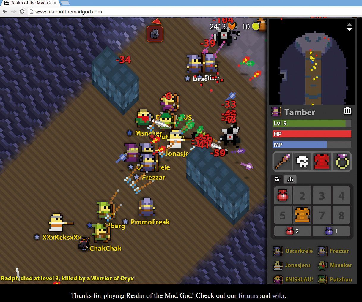 NUR ALS ZITAT Screenshot Spieletrend Permadeath / realm