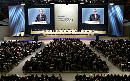 Hauptversammlung der Allianz: Aktionäre im Dilemma