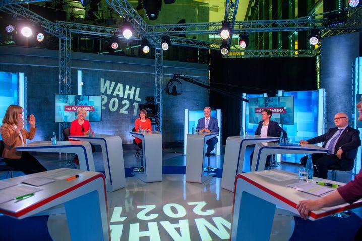 TV-Runde mit den Spitzenkandidaten