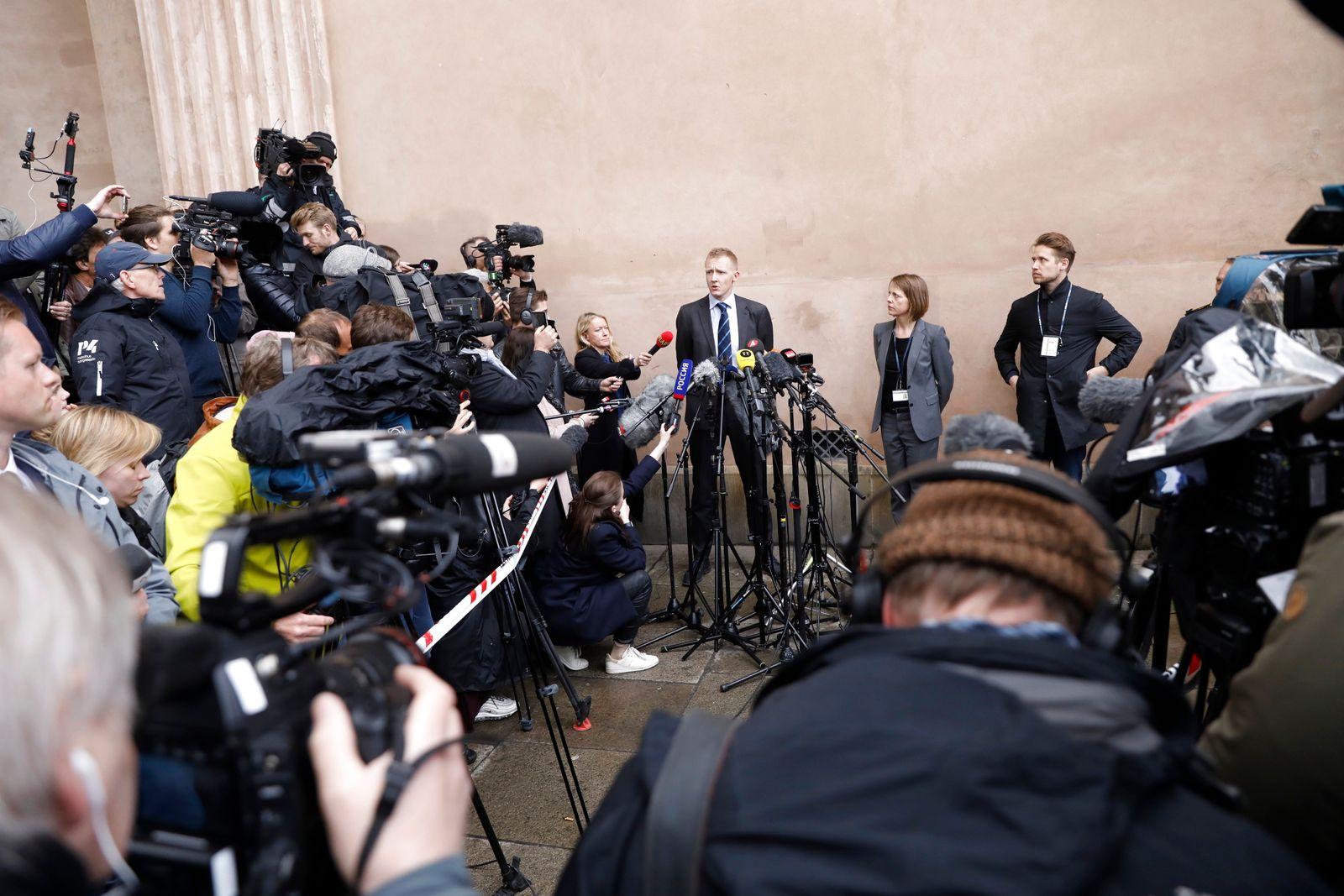 EINMALIGE VERWENDUNG Madsen/ Gerichtsverhandlung/ Kopenhagen