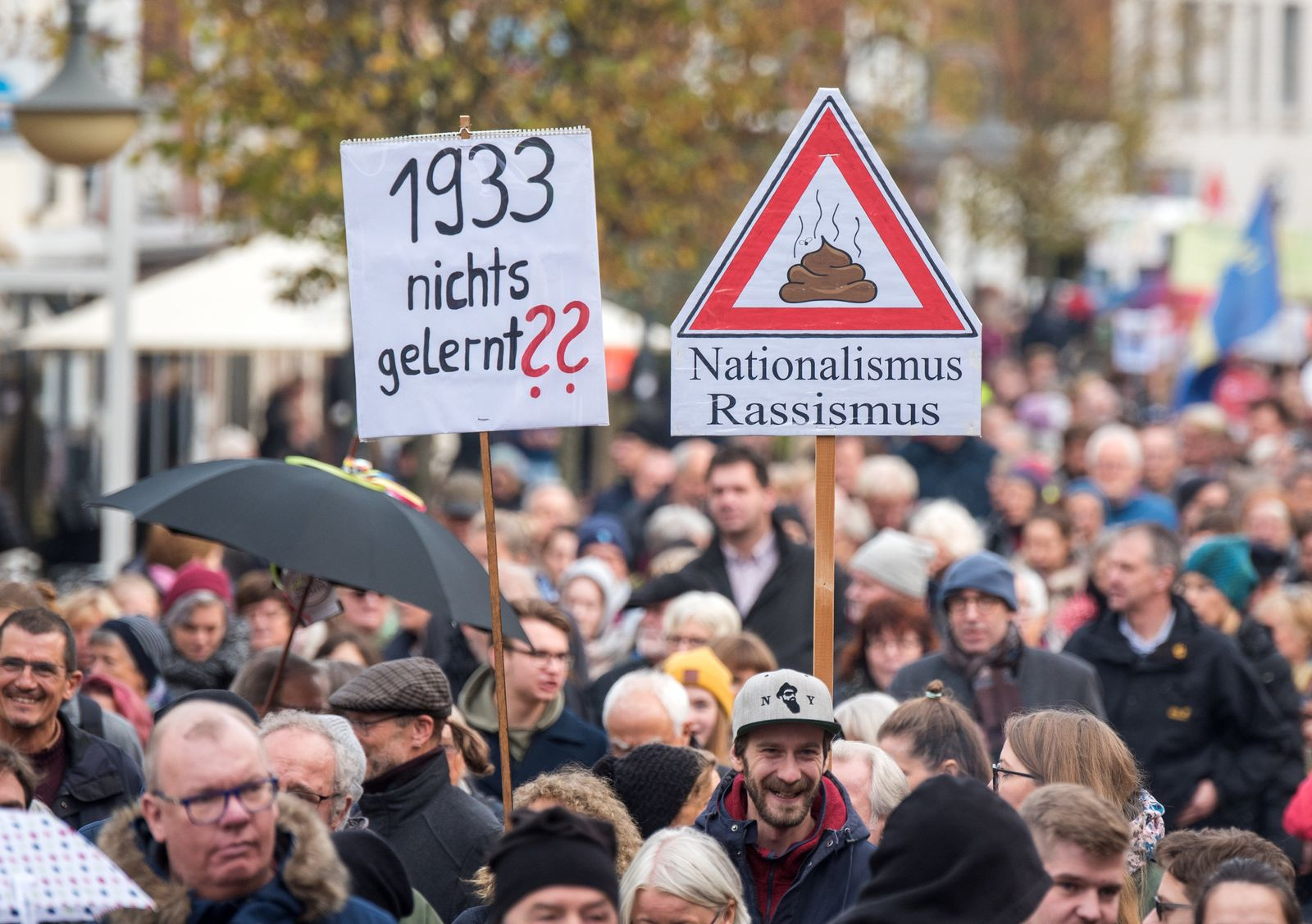 Demonstration gegen Rassismus