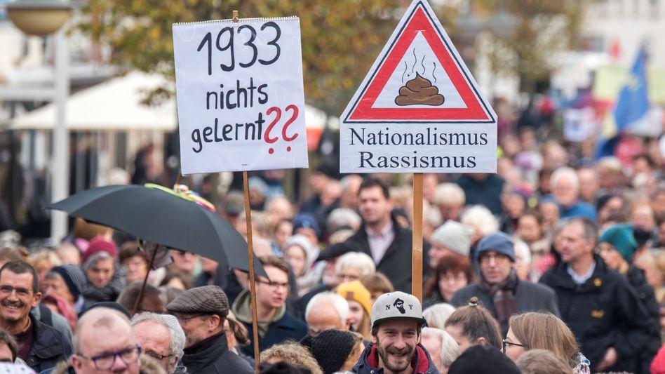 Demonstration gegen Rassismus (in Bad Segeberg)