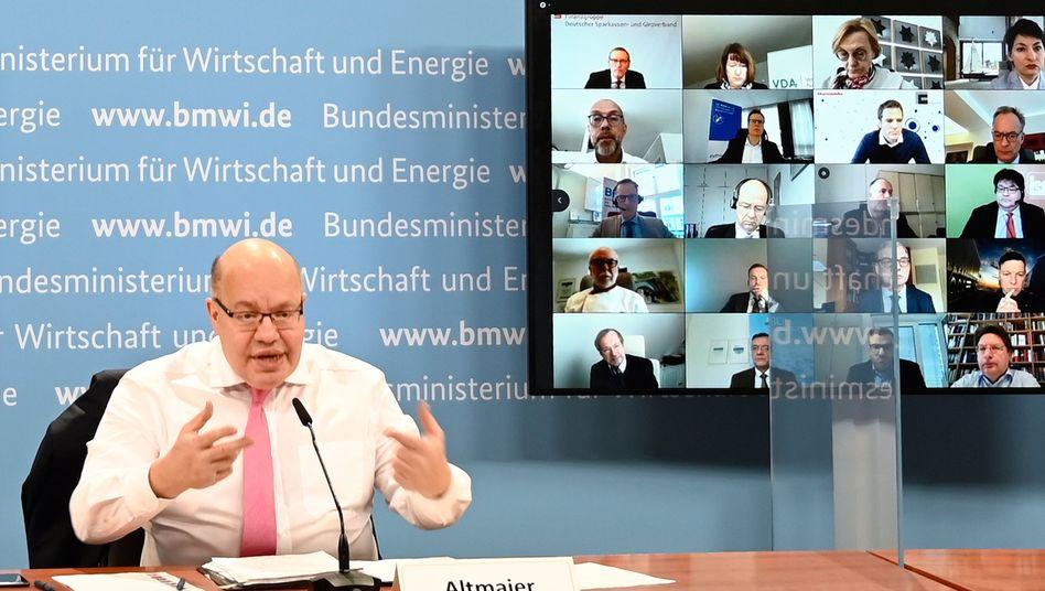 Altmaier im Gespräch mit den Verbänden: Hoffnung auf die Wirkung der Schnelltests