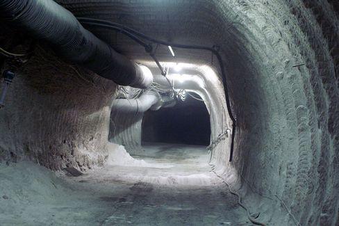 The Asse II salt mine, in Lower Saxony, is leaking radioactive brine.