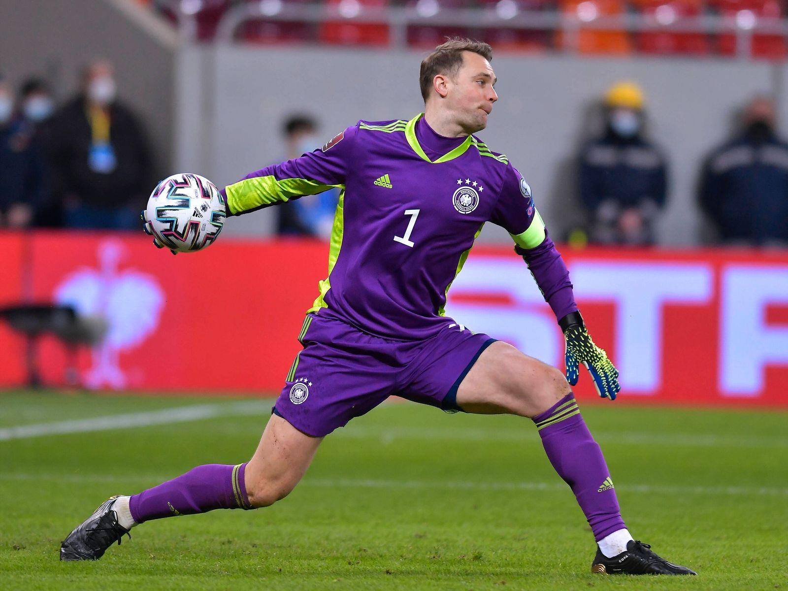 Manuel Neuer in meciul de fotbal dintre Romania si Germania, din cadrul Preliminariilor Campionatului Mondial 2022, desf