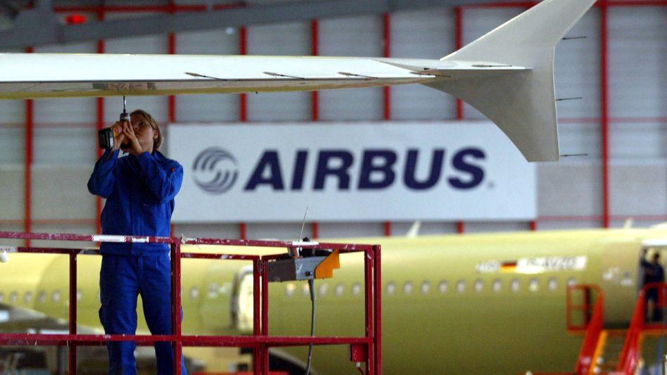 Airbus-Werk in Hamburg (Archivbild): Produktion wird heruntergefahren