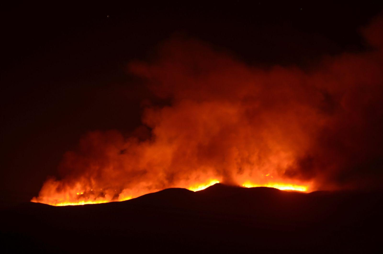 Feuer auf dem Kilimandscharo