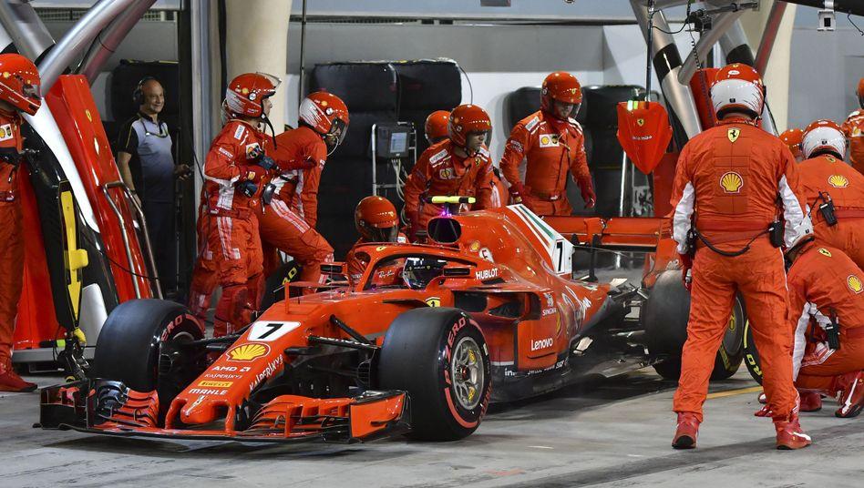 Kimi Räikkönen in der Box