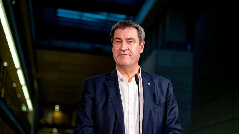 CSU-Chef Markus Söder am Wahlabend