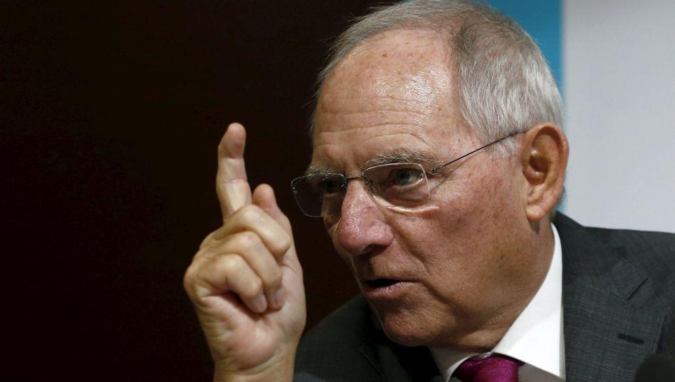Finanzminister Schäuble: Der Puffer reicht nicht