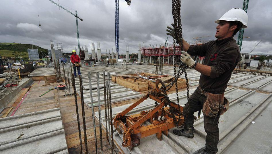 Spanischer Bauarbeiter: Kreditklemme in Südeuropa verschärft sich