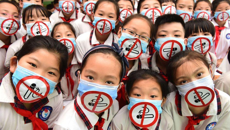 Schüleraktion in China zum Weltnichtrauchertag