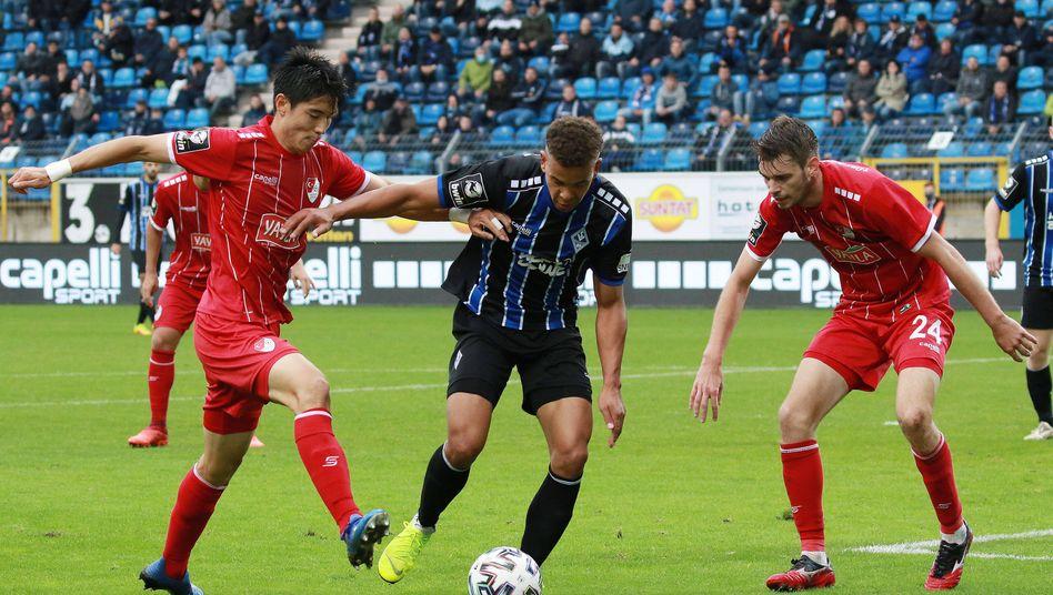 Park Yi-young (l.) spielt leihweise bei Türkgücü München
