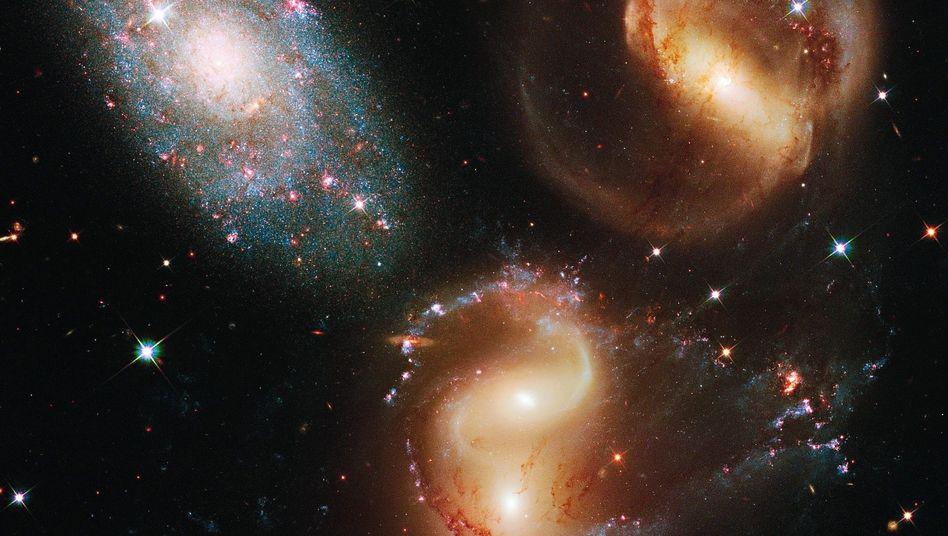 """Galaxiengruppe, aufgenommen mit dem """"Hubble""""-Weltraumteleskop"""