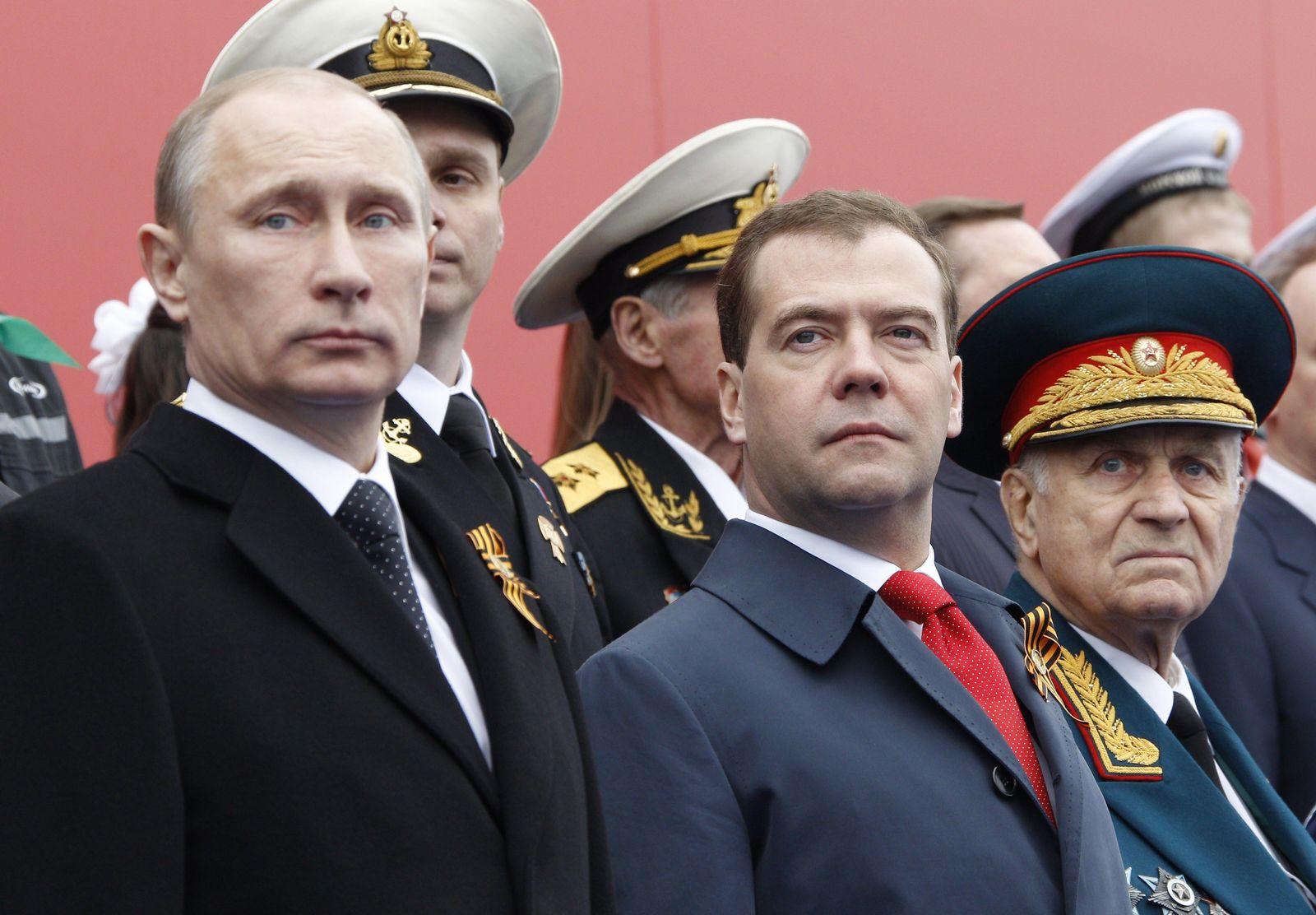 Parade Moskau / Medwedew / Putin
