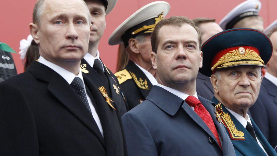 Regierungschef Medwedew, Präsident Putin: Nachhaltiger Verlust