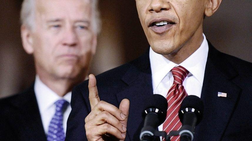 Drohnen-Befürworter Biden, Obama