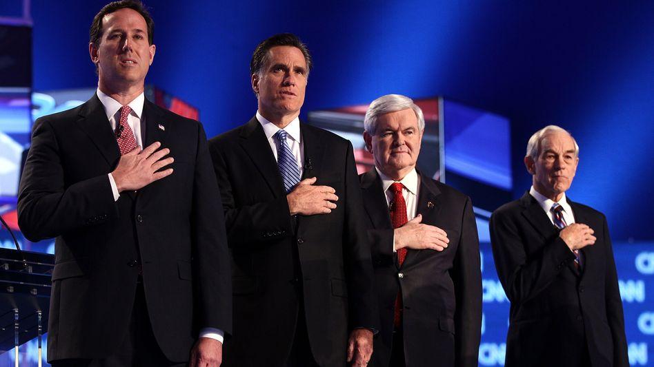 Antreten zur TV-Debatte: Die republikanischen Präsidentschaftskandidaten