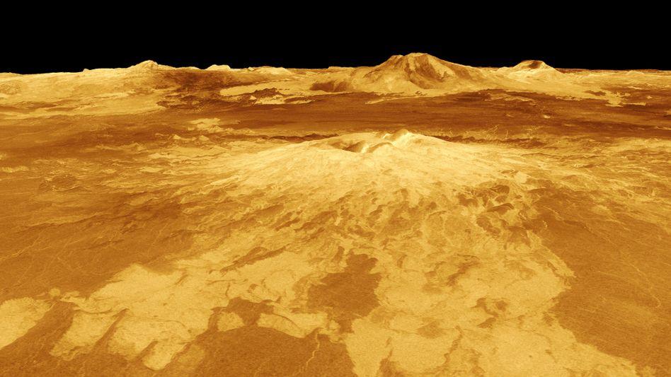 Computersimulation der Venusoberfläche