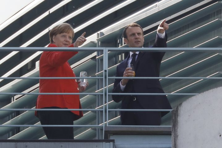 Merkel und Macron, richtungsweisend