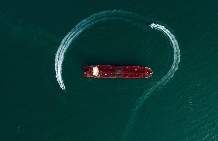 """Der unter britischer Flagge fahrende Tanker """"Stena Impero"""" ist seit Juli von Iran festgesetzt"""