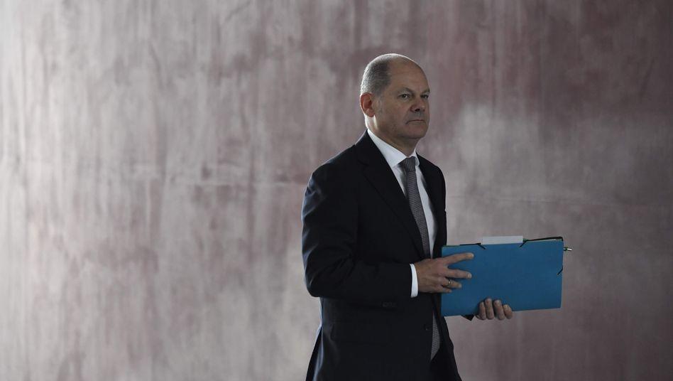 """Finanzminister Olaf Scholz: """"Keine unvorhergesehenen Mehreinnahmen mehr"""""""