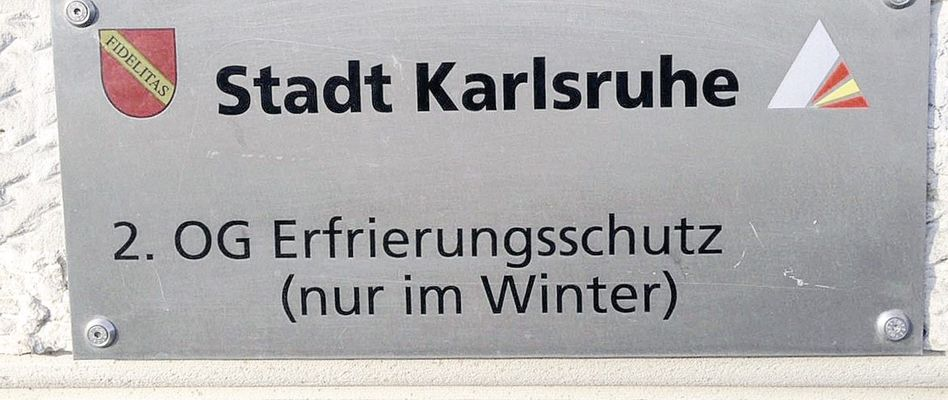 Schild der Stadt Karlsruhe
