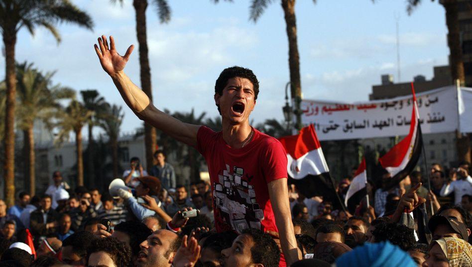 Der Tahrir-Platz am Samstag: Demonstrationen gegen das harte Vorgehen der Armee