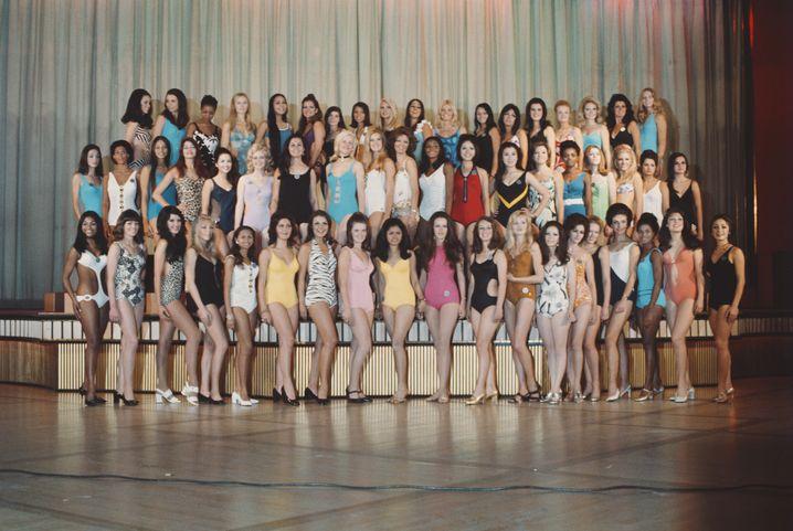 Hintern-Parade: Die 58 Miss-World-Kandidatinnen mussten auf Geheiß der Jury ihr Gesäß präsentieren