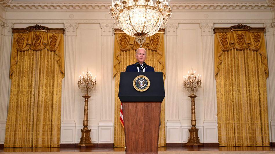 US-Präsident Joe Biden im Weißen Haus: »Wir werden nicht vergessen, wir werden nicht vergeben«