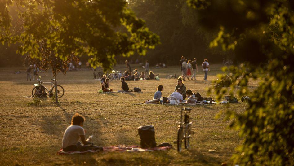 Menschen im Berliner Park Hasenheide: Viele wollen das Grundeinkommen testen