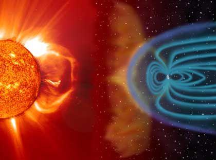 Sonnenwind und Erdmagnetfeld: Gigantischer Schutzschild