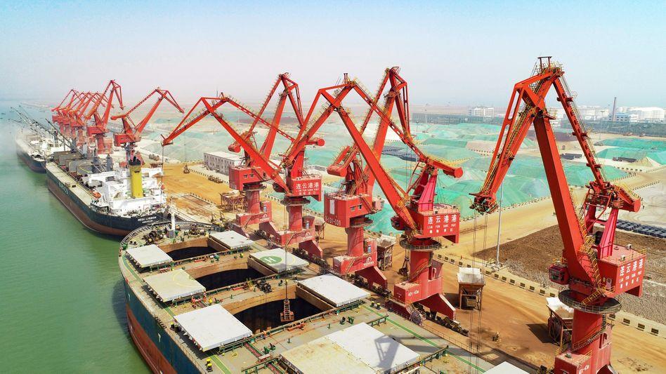 Hafen in chinesischer Stadt Lianyungang