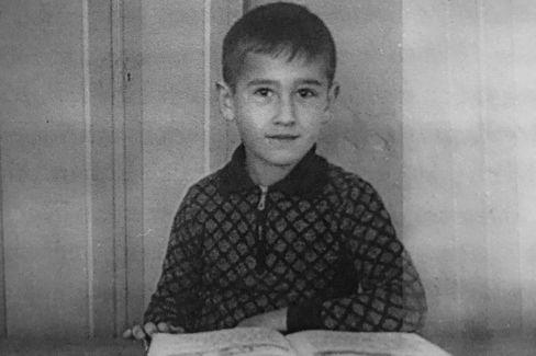 Erstes Schulfoto 1939: Peter Wägner als Erstklässler
