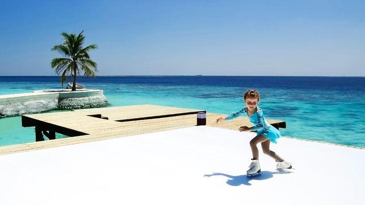 Eisbahn auf den Malediven: Ice Ice Maybe...